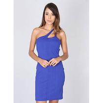 Vestido Um Ombro Só Feminino Lara - Azul