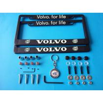 Porta Placas Volvo Emblemas Pivotes Seguridad Antirrobo Kit