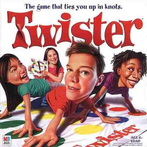 Twister Juego De Mesa Original Hasbro Adultos Y Ninos 694