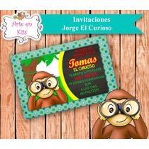 Tarjetas Invitaciones Jorge El Curioso X10u De 10x15 Cm