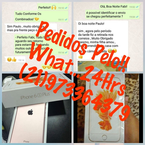 Iphone 6s Plus 128 Gb Novo Na Caixa . - R  1.000 333e7b4b8cf3a