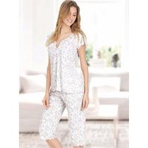 Pijama Estampado M/corta C/cartera Y Pescador Poema 4696 Dor