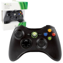 Controle Wireless Microsoft Para Xbox 360 Preto + 2 Pilhas