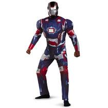 Disfraz De Iron Man Patriot Traje Con Luz Adulto Avengers