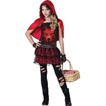 Disfraz De Caperucita Roja, T10-12años. Envio Gratis