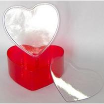 10 Baleiro Coração Acrílico P/ Personalizar