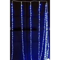 Cortina Com 320 Leds Azul Pisca Sequencial 3 X 2metros 220v