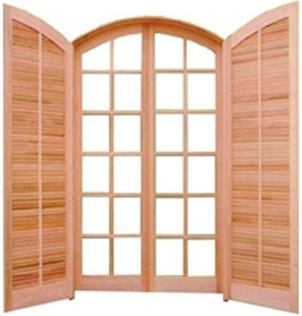 Porta balc o de madeira abrir abrir de 210x120 arco r 1 for O que e porta balcao