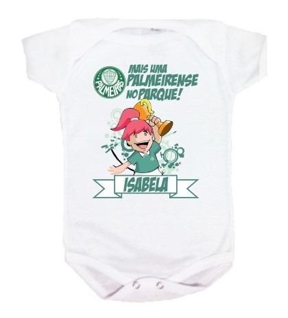 Body Bebê E Camiseta - Palmeiras Verdão - Personalizada - R  34 56ed12bff975a