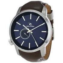 Relógio Rip Curl Detroit Leather Navy Couro Azul Marrom Lth