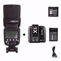 Godox V860ii Nikon Con Transmisor X1t-n Envio Gratis