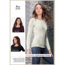 Sweater Ligero Dama Aplicaciones En Escote Gagashop 10