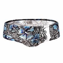 Swimwear Aussiebum Flowered Blue Ropa De Baño Azul Sunga