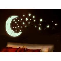 Vinilo Photoluminicente De Estrellas , Brilla En Obscuridad