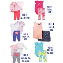 Carters Bodys Sets Conjuntos Short Pantalon Pijama Bebe Niña