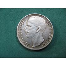 Moneda 10 Lire De 1927, Italia, De Plata
