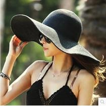 Sombrero De Playa Mujer Negro Spf 25+ Envio Gratis