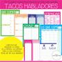 Tacos Personalizado,organización,lista Q Hacer, Casa/oficina