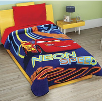 Cobertor Individual Disney Cars Neon Excell Plus 3d