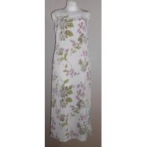 Kathie Lee Lindo Maxi Dress Color Crema Con Flores Talla 8