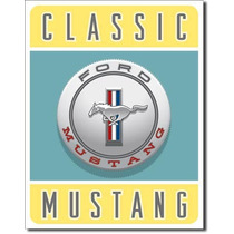 Anuncio Poster Lamina Metalico Retro Classic Mustang