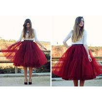 Falda Tul Lolita Moda Japonesa Vintage Tutu 4 Capas + Envio