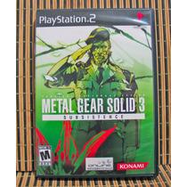 Metal Gear Solid 3 Subsistence - Ps2 Espionaje - Konami