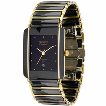 Relógio Technos Feminino Cerâmica Safira Quad. Gn10aapai/4p
