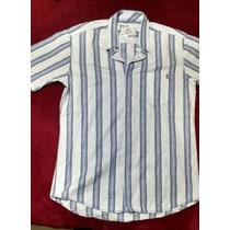 Camisa Bugatchi Hombre Manga Corta Talla M Fina
