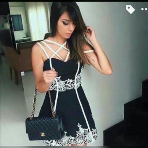 9886882db Vestidos Bonitos E Baratos Vestidos Formatura Curto Festa - R$ 110,00 em  Mercado Livre
