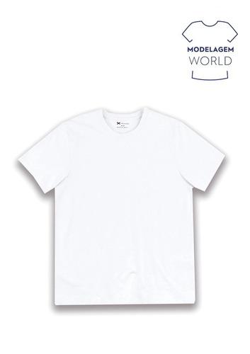 Camiseta Masculina Básica Em Algodão Modelagem World Hering - R  40 ... cb45c814b38