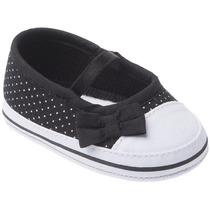 Sapato Cravinho Recém Nascido Poá Preto Feminino - Pimpolho
