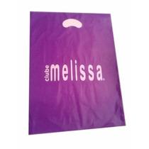 Lote 100 Sacolas Personalizadas Melissas R$0,78 Cada R177