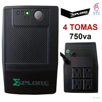 Ups Regulador De Voltaje Explore 750va 4 Tomas Backup Xtc