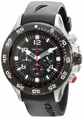 991702d6777 Relógio Nautica N17526g Masculino Aço Inox Modelo Grande - R  1.317 ...
