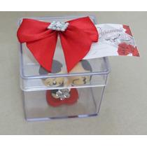Noivinhos Biscuit E Caixa Acrílica Decorada Casamento, Noiva