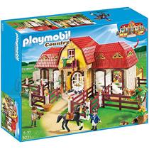 Playmobil 5221 Granja De Ponis Con Establo Serie Country