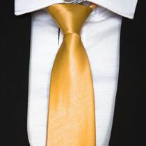 Gravata Dourada - Bodas De Ouro,casamento, Uniforme E Brinde