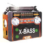 Rádio Portátil Am Fm Sw Usb Cartão Sd Lanterna Mod: 034