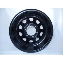 Roda Toyota Bandeirante Daytona Black 16x8 6 Furos Offset-24