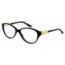 Gafas Versace Ve3161 Lentes Brillante Negro Marco, 53 Mm