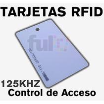 100 Tarjetas Rfid 125khz Para Control De Acceso 0.88mm