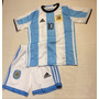 Conjunto Remera Short Argentina Sselccion Messi