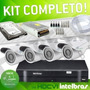Kit Hdcvi Com Dvr Intelbras 4 Ch+4 Câmeras Super Hdcvi+hd