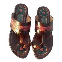 Sandalias Artesanales 100% Cuero Damas A La Moda Casuales