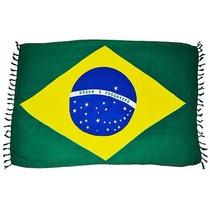 Cangas De Praia Bandeira Do Brasil-outras Estampas...