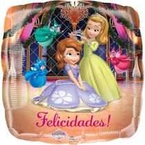 Globo Princesa Sofia Paq. 6 Pzas Medida 18 Para Helio