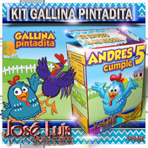 Gallina Pintadita Kit Imprimible Invitaciones Jose Luis