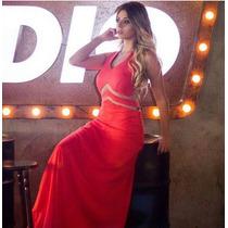Vestido Longo Centim Vermelho