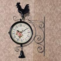 Reloj Doble Vitange De Pared, Gallo Negro.